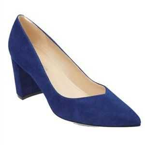 Marc Fisher Caitlin LTD Denim Blue Block Heels US7